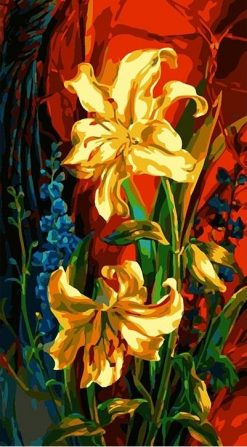 Abstract Flowers - DIY Paint By Numbers - Numeral Paint