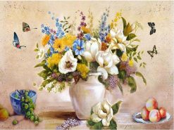 Abstract Flower Oil Painting - DIY Paint By Numbers - Numeral Paint