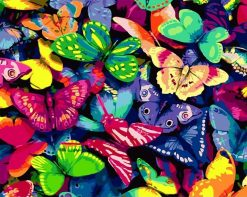 Butterfly Kits Modern - DIY Paint By Numbers - Numeral Paint