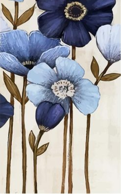 Flowers painting City  - DIY Paint By Numbers - Numeral Paint