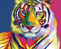 Abstract Tiger - DIY Paint By Numbers - Numeral Paint