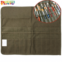 Roll Up Canvas Paint Brush Case For Artists paint by numbers