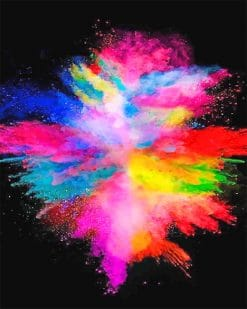 Rainbow Smoke Paint by numbers