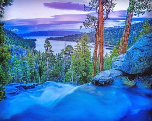 Lake Tahoe Sierra Nevada Mountains California Paint by numbers