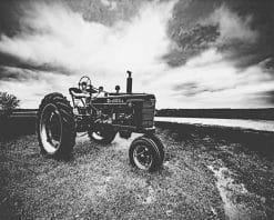 Black And White Tractor Paint by numbers