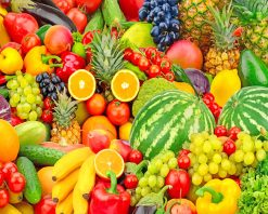 Colorful Fruits Paint by numbers
