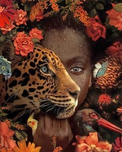 African woman tiger adult paint by numbers