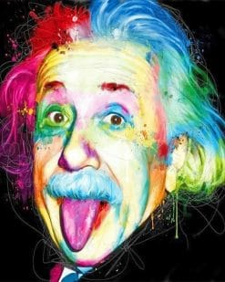 Albert Einstein Rainbow adult paint by numbers