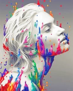 Color splash white woman adult paint by numbers