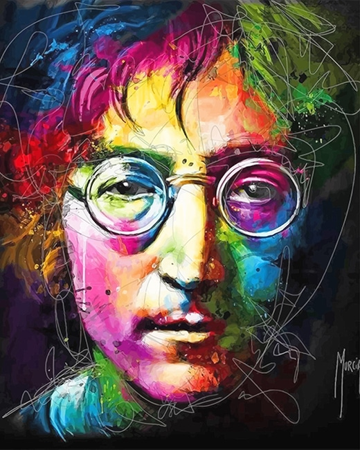 Colorful john lennon adult paint by numbers