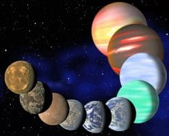 Colorful Universe Planets paint by number
