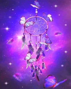 Dream Catcher with butterflies adult paint by numbers