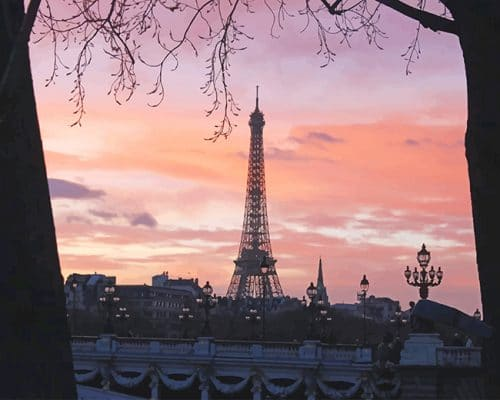 Eiffel Tower Paris France adult paint by numbers