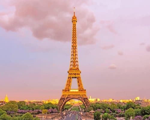 Eiffel Tower Paris adult paint by numbers
