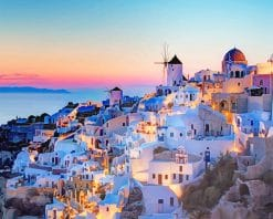 Greece by night adult paint by numbers