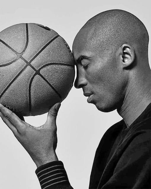 Kobe Bryant Black and white Portrait