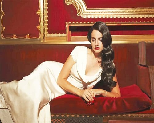 Lana Del Rey shooting adult paint by numbers