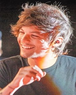 Louis Tomlinson Smiling Paint by numbers
