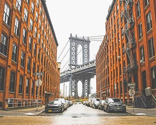 New York Brooklyn bridge park adult paint by numbers