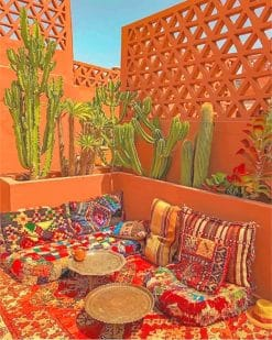 Beautiful Moroccan Living Room paint by number
