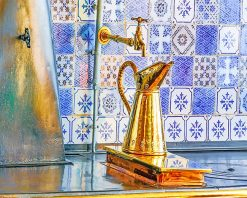 Claude Monet Copper Kitchen paint by number
