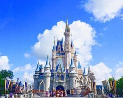 Disney World Cindrella Castle paint by number