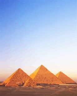 Egypt Pyramids Landscape adult paint by number
