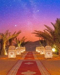 Moroccan Marrakesh Landscape paint by number