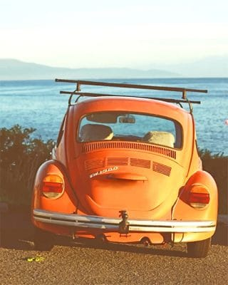Orange aesthetic Car paint by number