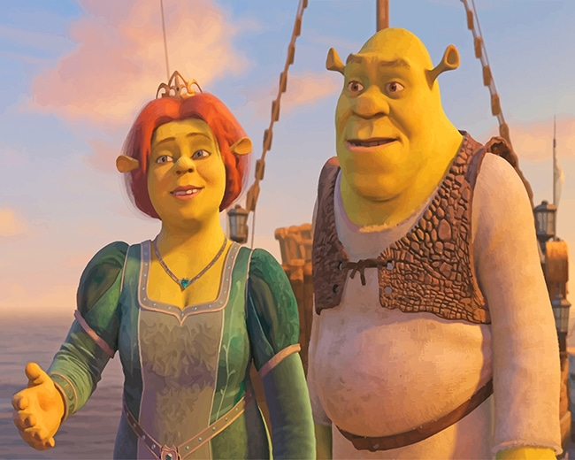 Shrek And Fiona New Paint By Number Paint By Numbers For Adult