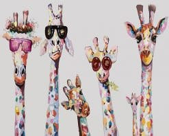 Stylish Giraffes Paint by number