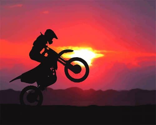 Sunrise Motorcycle Silhouette