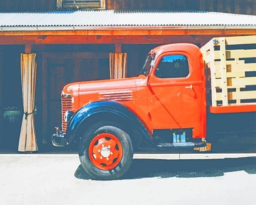 Vintage Truck Brands paint by number