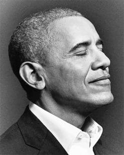 Obama Black And White Paint By Numbers