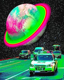 The Future Cars Space Paint By Numbers