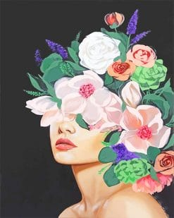 Abstract Woman Flowers Art paint by number