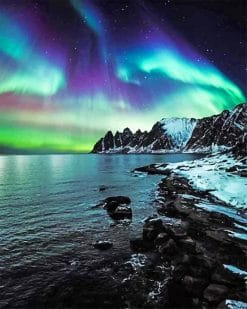 Aurora northern lights adult paint by numbers