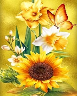 Beautiful Yellow Flowers adult paint by numbers