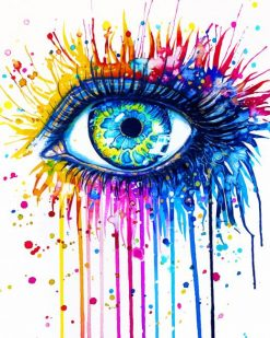 Colorful Splash Eye adult paint by numbers
