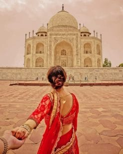 Follow Me Taj Mahal adult paint by numbers