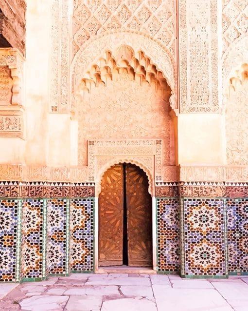 Door Marrakesh Morocco paint by number