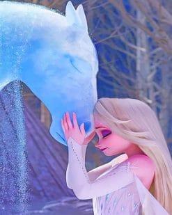 Nokk And Elsa Frozen paint by number