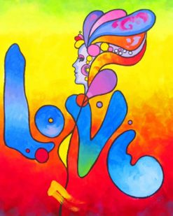 Peter Max Love paint by number