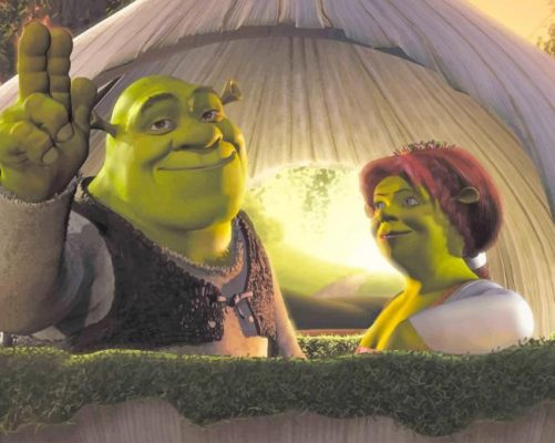 Shrek And His Wife Fiona New Paint By Number Numeral Paint