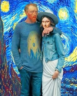 Van gogh and mona lisa adult paint by numbers