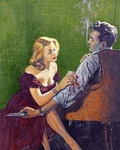 Woman Bandaging A Guy Wound paint by number