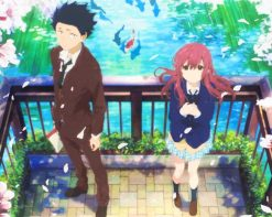 A Silent Voice Shoya And Shouko paint by number