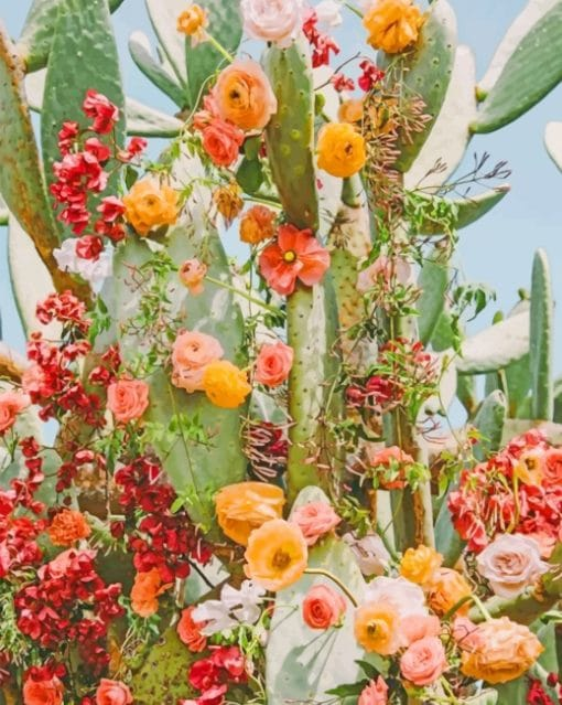 Aesthetic Cactus Flower Paint By Numbers