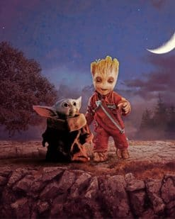 Baby Groot And Baby Yuda Paint By Numbers