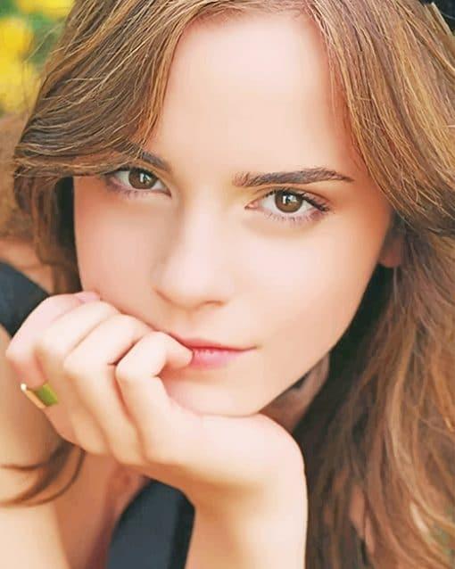 Beautiful Emma Watson paint by numbers